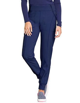 Cherokee Infinity Women's Knit Waistband Mid Rise Tapered Leg Jogger Tall Pant