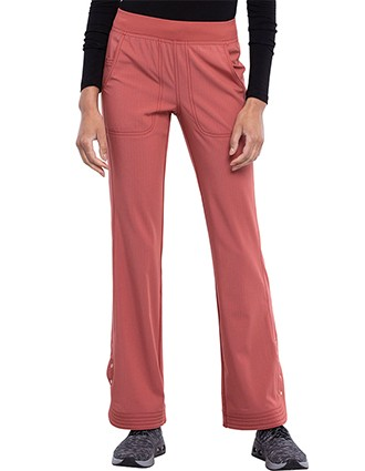 Cherokee Statement Women's Mid Rise Flare Leg Pull-on Pant