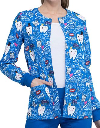 Cherokee Women's Bring The Sparkle Print Warm-up Jacket