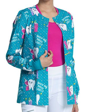 Cherokee Women's My Main Squeeze Print Warm-up Jacket