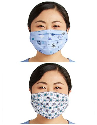 Cherokee Unisex Reversible Pleated Face Covering