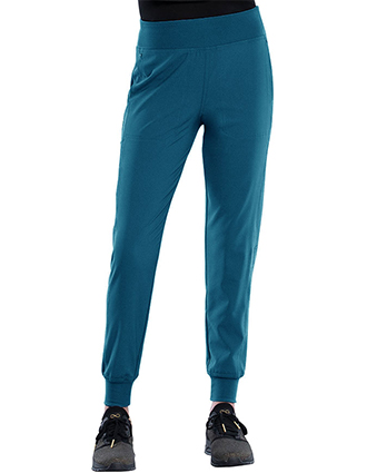 Cherokee Katie Duke Women's Mid Rise Pull-On Jogger Petite Pants