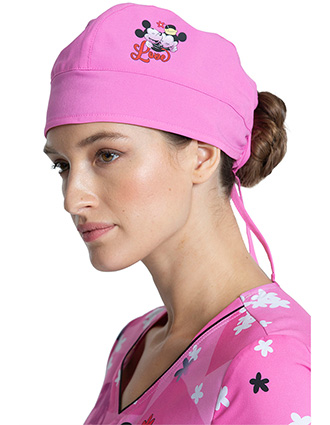 Cherokee Tooniforms Unisex I Love You Print Scrub Hat