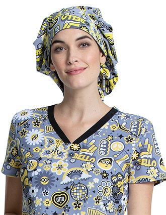 Tooniforms Unisex Bello Minion Printed Bouffant Scrub Hat