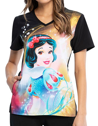 Tooniforms Women's Snow White Magic Print V-neck Top
