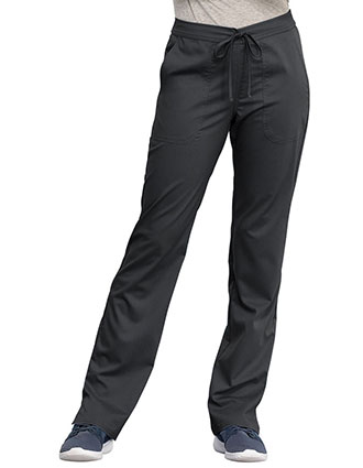 Cherokee Workwear Revolution Women's Mid Rise Straight Leg Drawstring Tall Pant