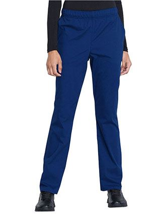 Cherokee Workwear Professionals Women's Natural Rise Tapered Leg Drawstring Tall Pant