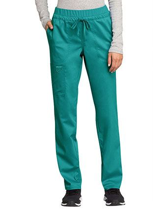 508c6e67be7 Cherokee Workwear Revolution Women's Mid Rise Tapered Leg Drawstring Petite  Pant