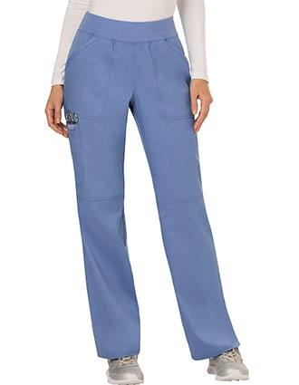 ea15c10bd92 Cherokee Workwear WW Revolution Womens Mid Rise Straight Leg Pull-on Pant