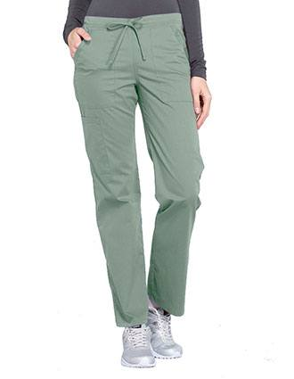 923f730f2dad5 Cherokee Workwear Professionals Women's Drawstring Mid Rise Straight Leg  Pant