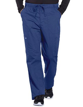 Cherokee Workwear Professionals Men's Tapered Leg Drawstring Cargo Petite Pant
