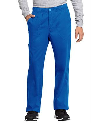 Cherokee Workwear Revolution Tech Men's Mid Rise Straight Leg Zip Fly Petite Pant