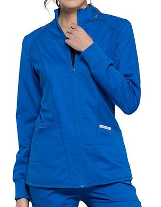 Cherokee Workwear Revolution Women's Zip Front High-low Jacket