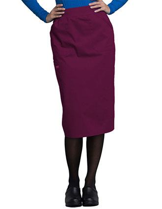 Cherokee Workwear WW Professionals Women's Knit Waistband Skirt