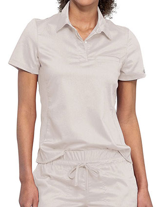 Cherokee Workwear Revolution Women's Snap Front Polo Shirt