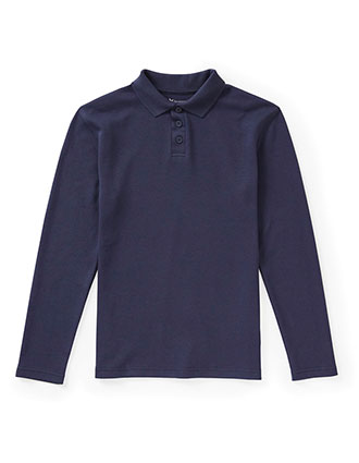 Jrs Long Sleeve Fitted Interlock Polo