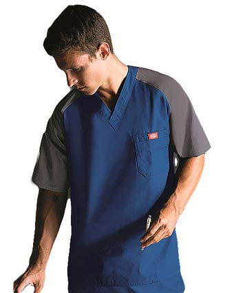 Dickies EDS Men Single Pocket Raglan Scrub Top