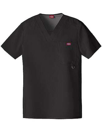 Dickies Extreme Stretch Men Solid V-Neck Nursing Scrub Top