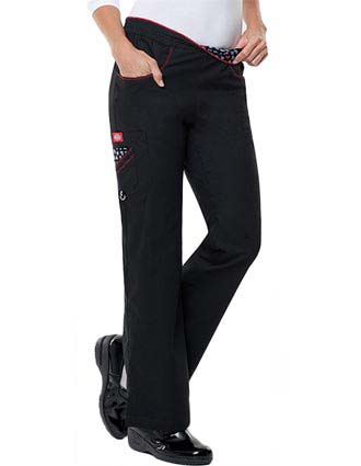 Dickies Love Your Color Junior Flare Legs Cargo Scrub Pants