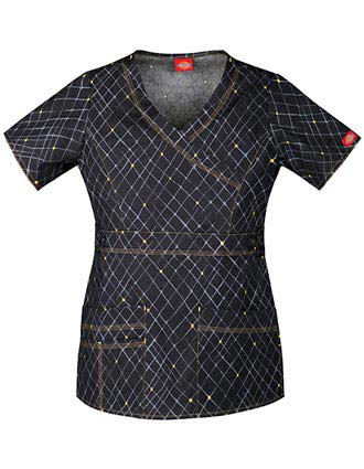 Dickies Women's Off The Grid Youtility Junior Mock Wrap Scrub Top