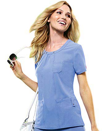 Dickies Xtreme Stretch Junior Scoop Neck Nurse Scrub Top
