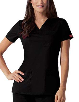 Dickies GenFlex Junior Youtility Basic V-Neck Scrub Top