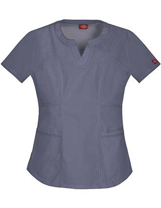 Dickies Women's Junior Fit Round Neck Solid Scrub Top