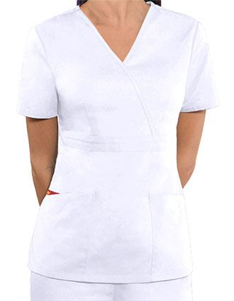 Dickies Women's EDS Mock Wrap Nursing Scrub Top