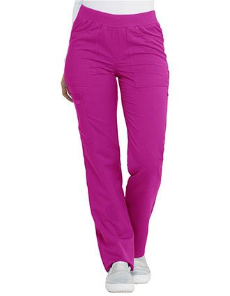 Dickies Balance Women's Mid Rise Straight Leg Pull-on Petite Pant