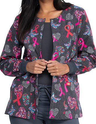 Dickies Speck-tacular Love Printed Warm-Up Jacket For Women's