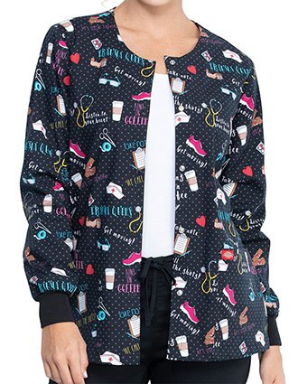 Dickies We Stick Together Printed Warm-Up Jacket For Women's