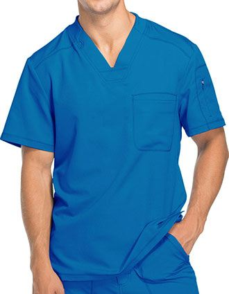 Dickies Dynamix Men's V-Neck Solid Scrub Top