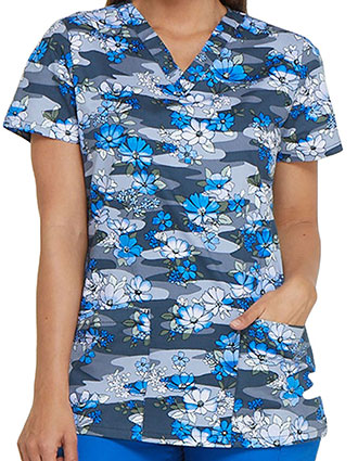 Dickies EDS Women's Floral Fleet Printed V-Neck Top
