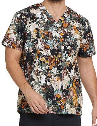 Dickies EDS Men's Great Outdoors Printed V-Neck Top