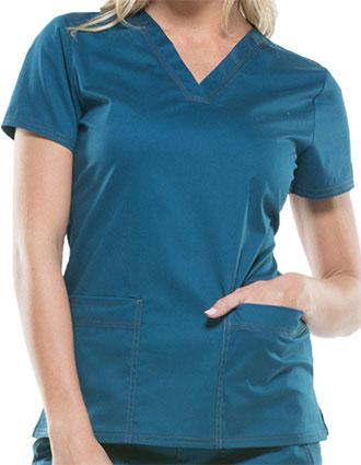 Dickies GenFlex Women's Two Pockets V-Neck Basic Scrub Top