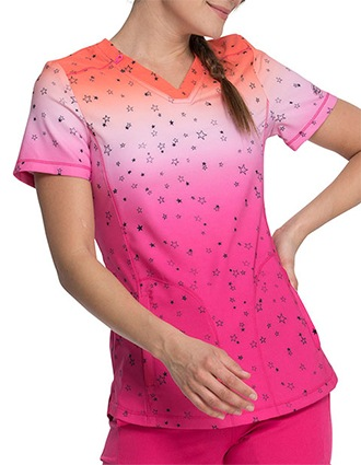 Dickies Prints Women's Fading Starlight V-Neck Top