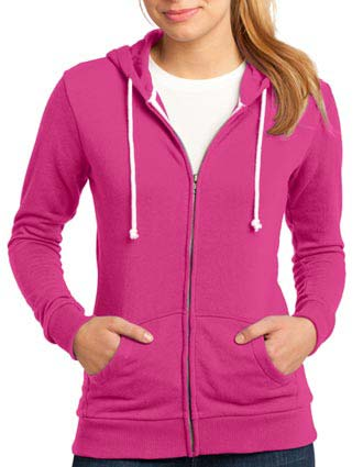District  - Juniors Core Fleece Full-Zip Hoodie DT290