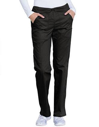 Genuine Dickies Industrial Strength Women's GD100 Mid Rise Straight Leg Drawstring Pant