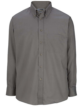 Men's Easy Care Long Sleeve Poplin Shirt