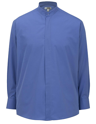 Men's Long Sleeve Banded Collar Shirt