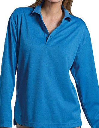 Dry-mesh Long Sleeve Polo
