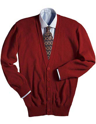 V-NECK CARDIGAN WITH TUFF-PIL PLUS