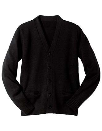 Heavy Weight V-neck Pocket Hemmed Cardigan