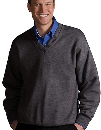 V-neck Sweater With Tuff-Pil® Plus
