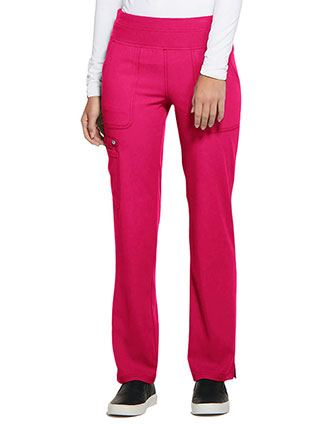ELLE Women's Mid Rise Straight Leg Elastic Waist Pull-on Tall Pant