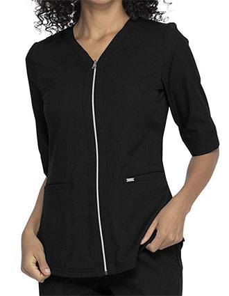 Elle Simply Polished Women's Zip Up Top