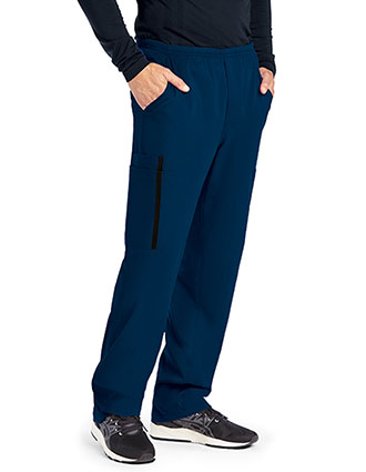 Grey's Anatomy Impact Men's Zip Fly Double Cargo Petite Scrub Pant