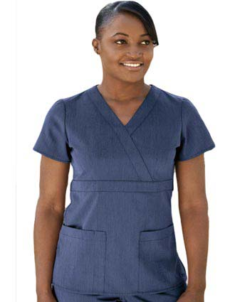 Grey's Anatomy Junior Fit Three Pocket Mock Wrap Scrub Top