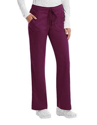 Grey's Anatomy Junior Fit Four Pocket Petite Drawstring Scrub Pants