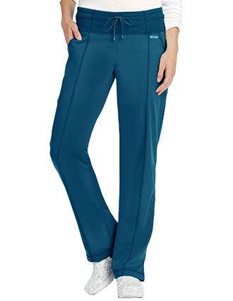 Grey's Anatomy Women's 4 Pocket Yoga Knit Petite Scrub Pants